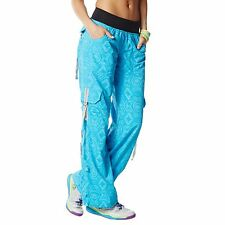 Zumba Dance Fitness Essential Cargo Pants! Adjustable Cord on Waist! Flattering!