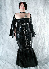 Patent Dress Vinyl Patent Gothic Dress Black Pvc Dress Robe De Soirée All Sizes