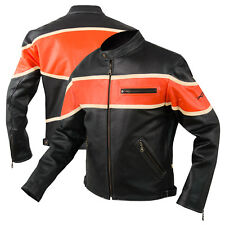 Style Quality Leather Jacket Biker Motorcycle Motorbike Cruiser Cowhide