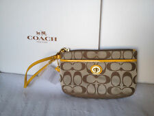 NWT Coach Campbell Signature Med Wristlet  $78 F51109 NEW SPRING COLORS!!
