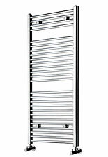 High Quality Chrome Heated Towel Rail Radiators + Free Angled Valves