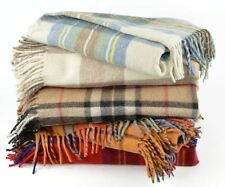 New Scottish Pure Wool Tartan Blanket Throw Rug Gift Various Tartans