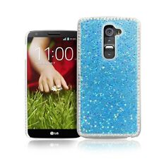Deluxe Clear Crystal Diamond Bling Hard Fitted Cover Back Case For LG G2