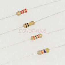 100 pcs 1/4W 0.25W 5% Carbon Film Resistors resistor Range of 43K-390K ohm New