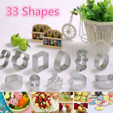 33 Assorted Shape Metal Cookie Cutters Biscuit Maker Cake Decorating Baking Mold