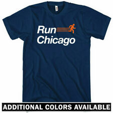 RUN CHICAGO V2 T-shirt - Windy City Running Track Bulls Bears Cubs Sox - XS-4XL