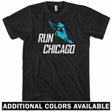 RUN CHICAGO V3 T-shirt - Running Track Windy City Bulls Bears Cubs Sox - XS-4XL