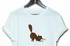 Leopard Cat  HIPSTER INDIE SWAG FUNNY T SHIRT TOP CLOTHING MEN WOMEN Gift Tee
