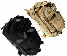 Black/CP Style 30L Rucksack Backpack Outdoor Military Tactical Camping Hiking