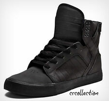New Supra Men's Skytop Black Hi Top Sneaker S18187