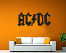 Large AC DC ACDC Kitchen Living Room Bed Room Rock Wall Art Free Squeegee Mural
