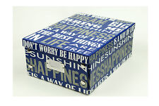 Funky Print Paper Cardboard Boxes for Home Storage Vintage Shabby Chic Xmas Gift
