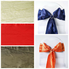 200 Taffeta Crinkle Chair Sash Wholesale Bows Ties - Wholesale Wedding Supplies