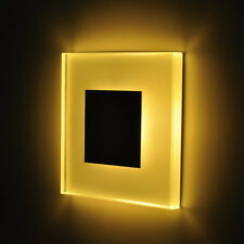 Kitchen bathroom, LED wall light, built in, recessed, modern design 100x100mm