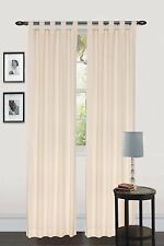 "UTOPIA BEDDING TAB TOP CURTAIN PANEL DRAPES 60"" W x 84"" L (2 PANELS) 5 COLORS"