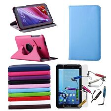 For Asus FonePad 7 FE170CG FE170 360° Rotating Stand Leather Case Cover Film Pen