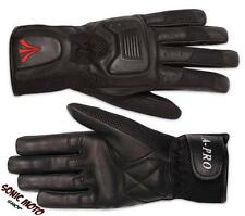 Summer Motorcycle Biker Leather Textile Sport Gloves Cruiser Chopper Trike