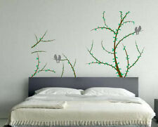 Tree Branches Leaves with Birds Removable Mural Wall Sticker Decor Vinyl Decal