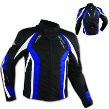 Apparel Motorcycle Wind Waterproof CE Armour Thermal Textile Jacket Blue