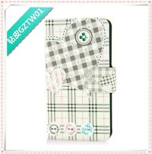 hot diamond heart grid colorful shine flip PU leather case cover for SONY Xperia