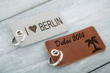Key Ring Incl. Free Engraving Of Your Desired Text Real Leather