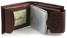 Buxton Womens Leather Heiress Collection Convertible Billfold Bifold Wallet