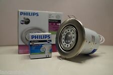 Packs of GU10 Mains Fire Rated Downlight Fixed & Tilt LED Downlight By Philips