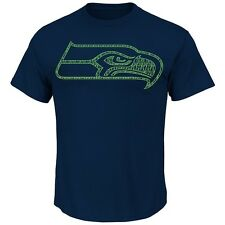 Seattle Seahawks MENS Shirt T-Shirt Fantasy Leader III by Majestic Athletic