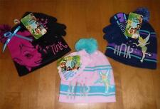Girls TINKERBELL Winter HAT set stocking cap gloves mittens Pink Blue Black NWT