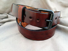 Cristopher Handmade Genuine Brown Leather Belts 1.5 Inch Wide size up 50