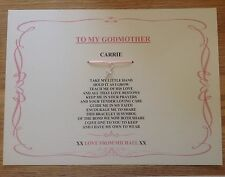 godparent, christening keepsake gift personalised godmother/godfather/godparents