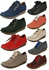 Ladies Clarks Comfortable Leather Lace Ups Funny Dream