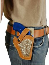 NEW Barsony Tan Leather Hair on Hide Gun Holster for S&W 22 38 357 Snub Nose 2""