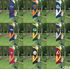*NFL 8.5 ft TALL TEAM FLAG KIT with 11.5 ft Pole- Licensed NEW Choose your Team
