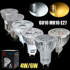 4 10 X 4W 6W GU10/MR16 LED Spot Light Bulbs High Power Day/Warm White UK Stock
