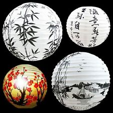 """Paper Lantern Lamp Shade Oriental Decoration Bamboo Chinese Red Blossom Boat 13"""""""