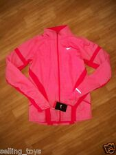 New with tag Nike Women Element Shield FULL ZIP running Jacket 546677 red/orange