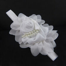 Baby Headband Toddler Infant Rose Flower Hair Bow Band Accessories Head Piece