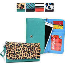 [M] Faux Leather Protective Clutch Case Cover fits Motorola Cell-Phone