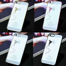 New Fashion Luxury Clear Transparent Hard Back Case Magic Angel For iPhone 5G 5S