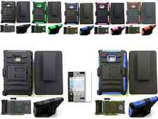 Holster Kickstand Case+Screen Protecter For LG Optimus Dynamic L38c/L38g