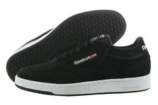 REEBOK CLUB C J98785 BLACK WHITE SMOOTH NUBUCK LEATHER CASUAL SHOES MEN