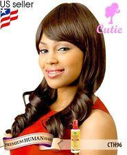 Cutie Collection 96 Premium Human Hair Blended Wig + Free African Essence Spray