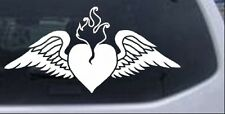 Flame Heart With Wings Car or Truck Window Laptop Decal Sticker