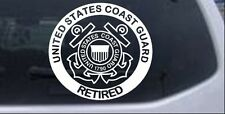 United States Coast Guard Retired Car or Truck Window Laptop Decal Sticker