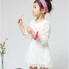 HOT! Girls Kids Princess Party Lace Tutu Formal Gown Dress Clothes 2-6 Years