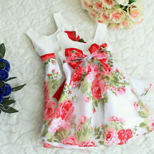 Baby Girls Kids Princess Party Formal Dress One-pieces Clothes A-line Bow Skirts