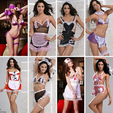 A8 lot Naughty French Maid Sexy Nurse Fancy  Dress Costume Babydoll Lingerie S-L