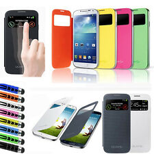 Neu Slim S-VIEW Flip Smart Case Battery Cover Für Samsung GALAXY S4 Mini i9190