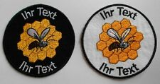 beekeeper apiarist honey patch with your text 10cm embroidered (62)